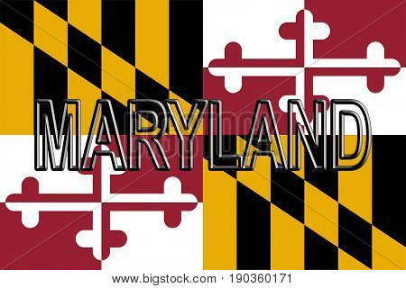 Flag Of Maryland  Word