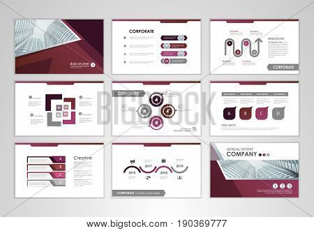 Purple pages layout brochure design brochure template for business presentation brochure annual report brochure business flyer and leaflet cover with infographic elements graphs and charts. Infographic brochure elements for business data visualization. Ve