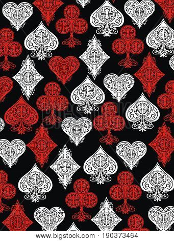 Playing card background for your design.Playing cards
