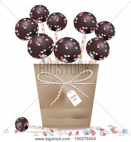 Delicious festive sweets and desserts for a party. Summer confectionary candy treats Vector