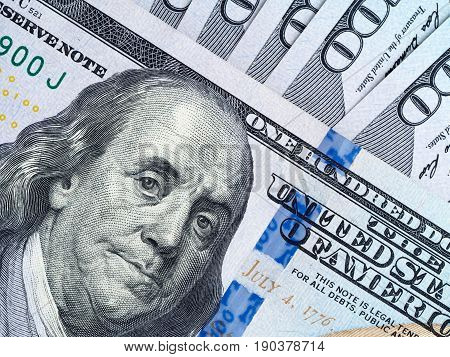 A Bundle Of One Hundred Dollars Banknotes