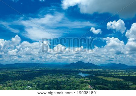 Beautiful vew from Sigiriya Lion Rock, Sri Lanka