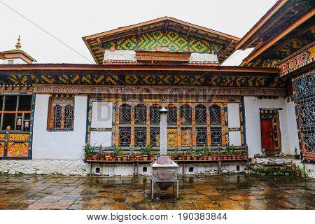 Inner view of Trongsa Dzong, one of the oldest Dzongs in Bumthang, Bhutan, Asia