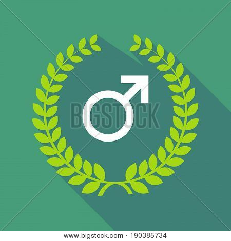 Long Shadow Laurel Wreath With A Male Sign