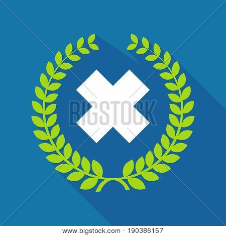 Long Shadow Laurel Wreath With An Irritating Substance Sign