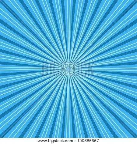 Sun rays. Blue sun rays background vector