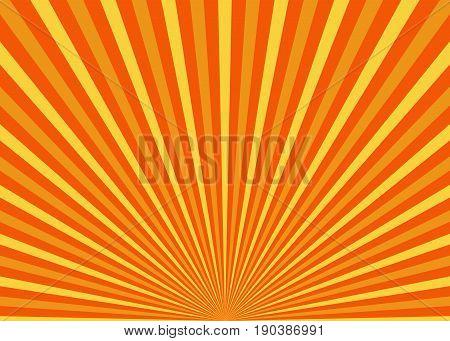 Sun rays. Sun with rays vector illustration