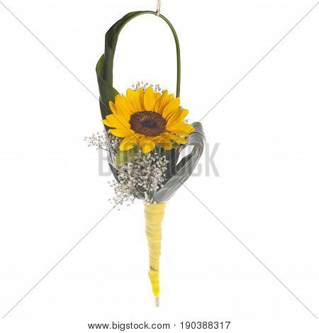 Floreal Composition Sunflower Handbag