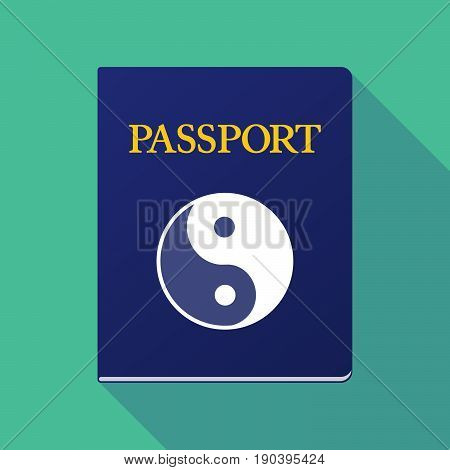 Long Shadow Passport With A Ying Yang