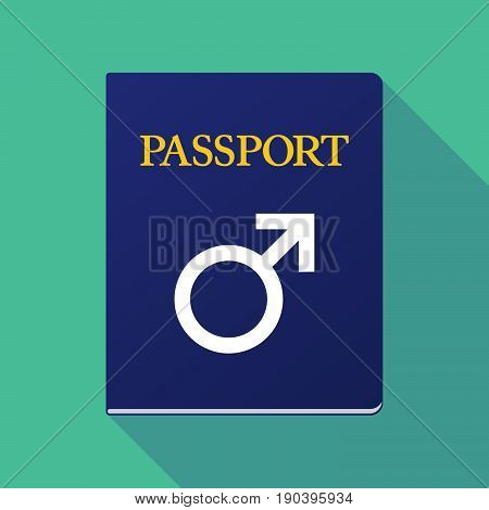 Long Shadow Passport With A Male Sign
