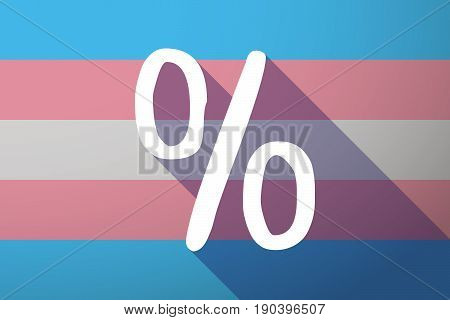 Long Shadow Transgender Flag With A Discount Sign