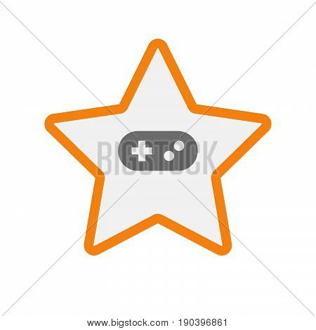 Isolated Star With A Game Pad
