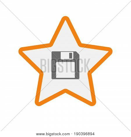 Isolated Star With A Floppy Disk