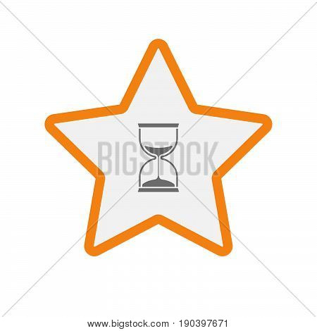 Isolated Star With A Sand Clock