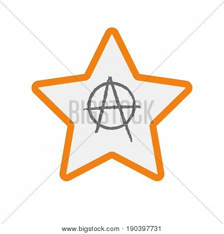 Isolated Star With An Anarchy Sign