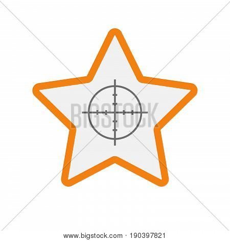 Isolated Star With A Crosshair