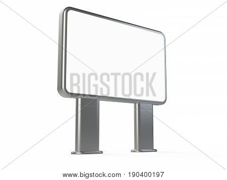 Vertical big blank outdoor stand banner. Lightbox. 3d Illustration isolated on a white background.