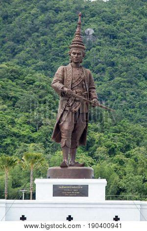 Ratchapak Park, Hua Hin, Prachuap Khiri Khan, Thailand. - OCTOBER 11, 2015 : King Narai (Ayutthaya)