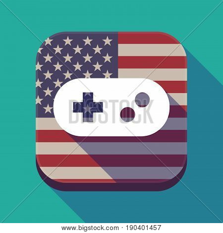 Long Shadow Usa App Button With A Game Pad