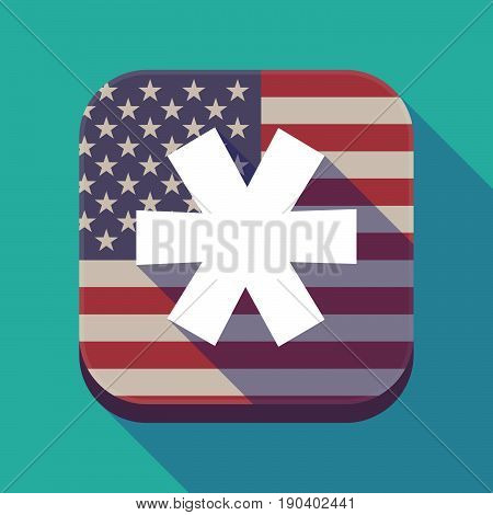 Long Shadow Usa App Button With An Asterisk