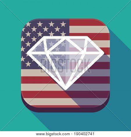 Long Shadow Usa App Button With A Diamond