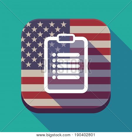 Long Shadow Usa App Button With A Report