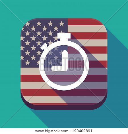 Long Shadow Usa App Button With A Timer