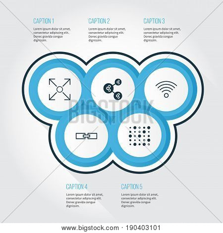 Learning Icons Set. Collection Of Algorithm Illustration, Variable Architecture, Wireless Communications And Other Elements. Also Includes Symbols Such As Related, Gear, Shared.