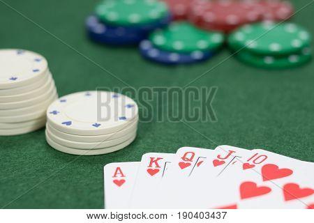 Gambling In A Casino On A Winning Streak