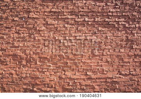 Old Red Brick Wall, Frontal Flat Background