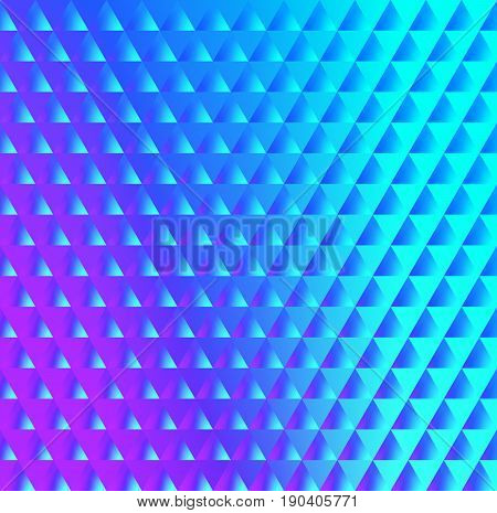 Brilliant blue pink pattern of triangles with a color reflector