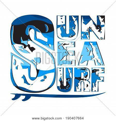 surfing sun sea surfing t-shirts T-shirt inscription typography graphic design emblem