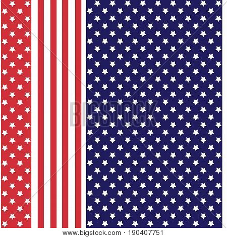 Abstract seamless american pattern with stars and stripes