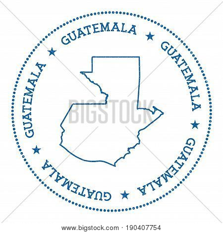 Guatemala Vector Map Sticker. Hipster And Retro Style Badge With Guatemala Map. Minimalistic Insigni