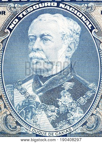 Duke of Caxias portrait from Brazilian money