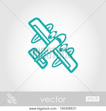 Hydroplane outline vector icon. Travel. Summer. Summertime. Holiday. Vacation eps 10