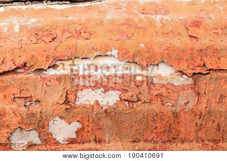 Old Painted Synthetic Surface With Scratches And Cracks, Background/texture.