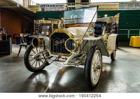 PAAREN IM GLIEN GERMANY - JUNE 03 2017: Retro car Buick Model 39 Toy Tonneau 1910. Exhibition