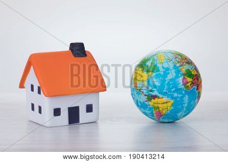 Global Warming Concept With An Eco House
