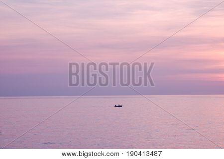 SALERNO : SEA LANDSCAPE. CAMPANIA, SOUTH ITALY poster