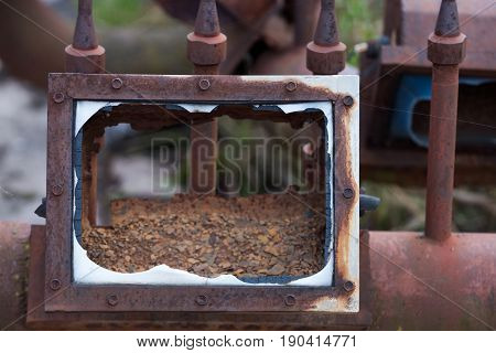Broken Rusted Frame And Pipe Lines Scrap