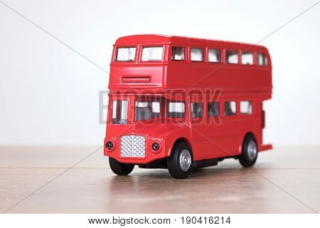 Close Up View Of A Red London Double Decker Bus