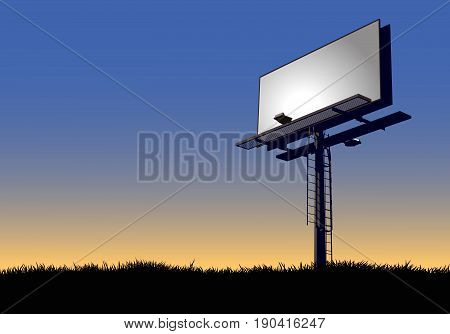 An empty roadside billboard for advertising placement.