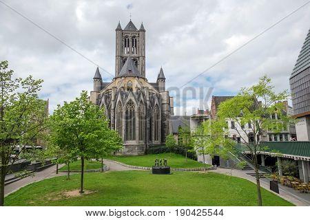 Saint Nicholas Church in centre of Gent, Belgium