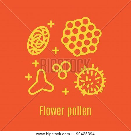 Pollen, a product of bees and beekeeping. A useful organic amino acid. Linear style. Vector illustration