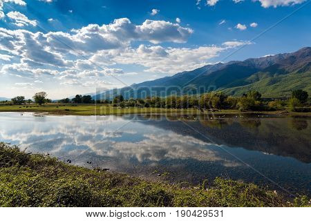 View of lake Kerkini in northern Greece