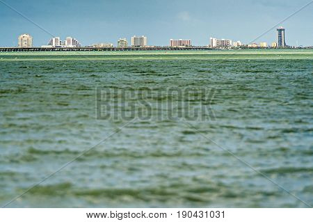 South Padre Island Coastline At Daytime In Spring