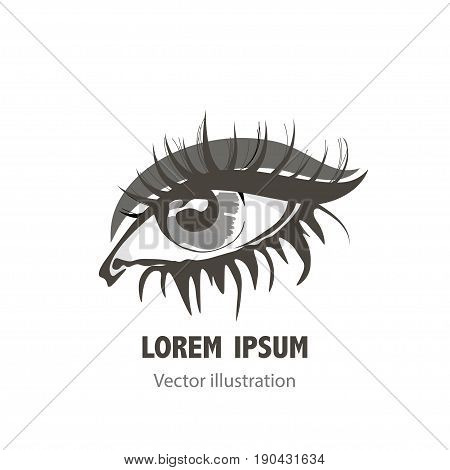 eye icon template for logo design. Eye logo, eye design, eye symbol, vision element.
