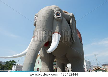 MARGATE, NJ - AUGUST 16: View of Lucy the Elephant on August 16, 2016