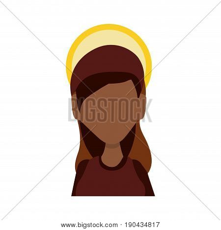 Virgin mary mother of god icon vector illustration graphic design